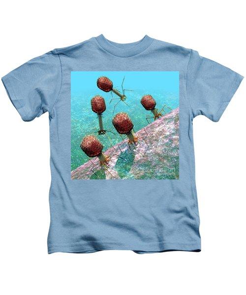 Bacteriophage T4 Virus Group 1 Kids T-Shirt
