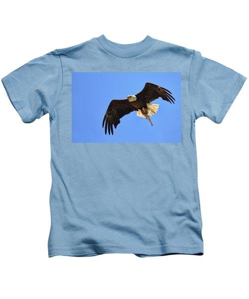 Bald Eagle Catch Kids T-Shirt