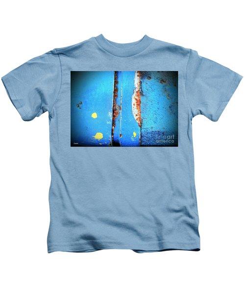 Blue Abstract Kids T-Shirt