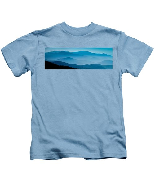 Blue Ridges Panoramic Kids T-Shirt
