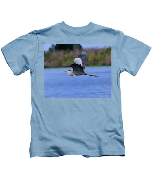 Great Blue Inflight Kids T-Shirt
