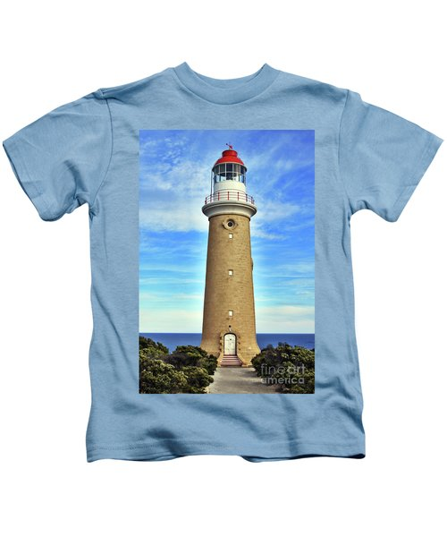 Light House At Cape Du Couedic Kids T-Shirt