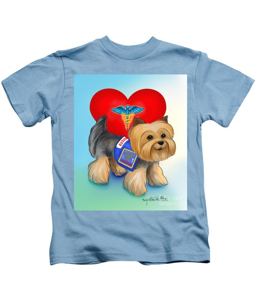 Medical Alert Yorkie Kids T-Shirt