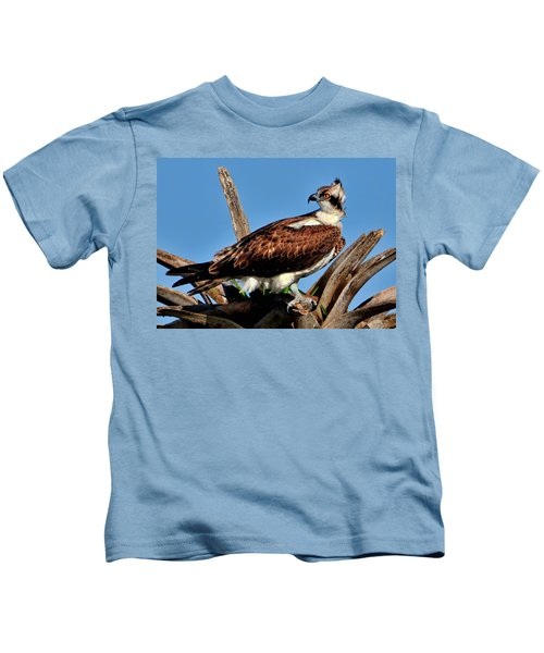 Osprey On A Windy Morning Kids T-Shirt