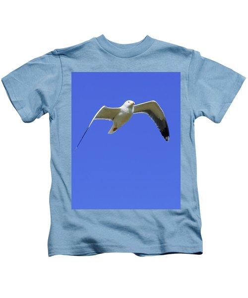 Seagull In Flight Kids T-Shirt