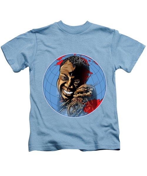 Louis. Kids T-Shirt by Andrzej Szczerski