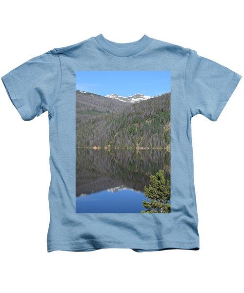 Chambers Lake Reflection Hwy 14 Co Kids T-Shirt