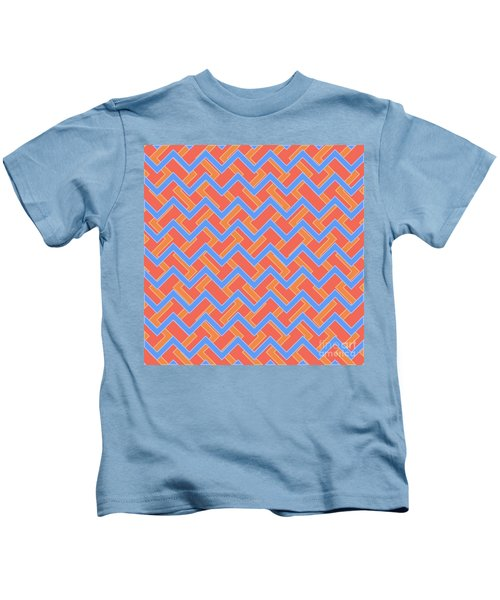 Abstract Orange, Red And Cyan Pattern For Home Decoration Kids T-Shirt