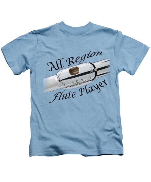 All Region Flute Player Kids T-Shirt