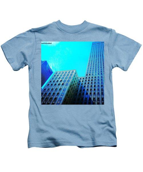 #blue #buildings And #bluesky On A Kids T-Shirt