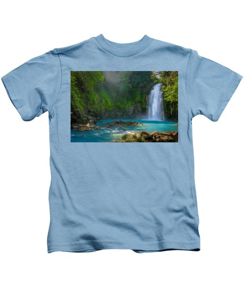 Blue Waterfall Kids T-Shirt