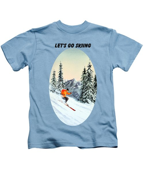 Let's Go Skiing Kids T-Shirt