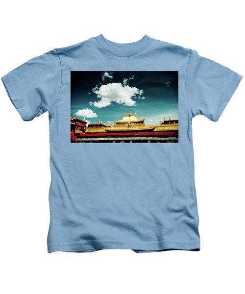 Lhasa Jokhang Temple Fragment Tibet Artmif.lv Kids T-Shirt