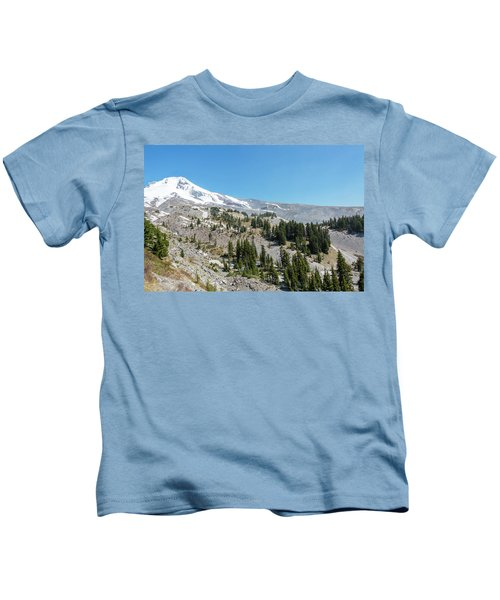 Mt Hood Peak View Kids T-Shirt