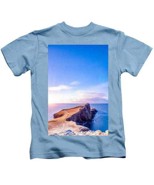 Neist Point Lighthouse At Dawn Kids T-Shirt
