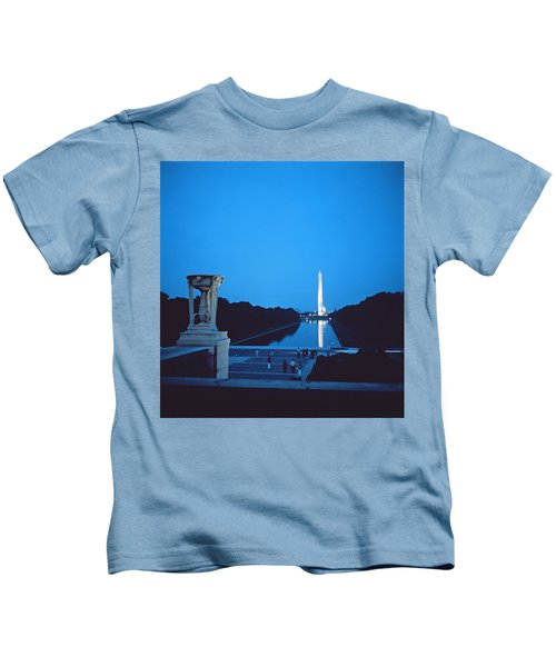 Night View Of The Washington Monument Across The National Mall Kids T-Shirt by American School