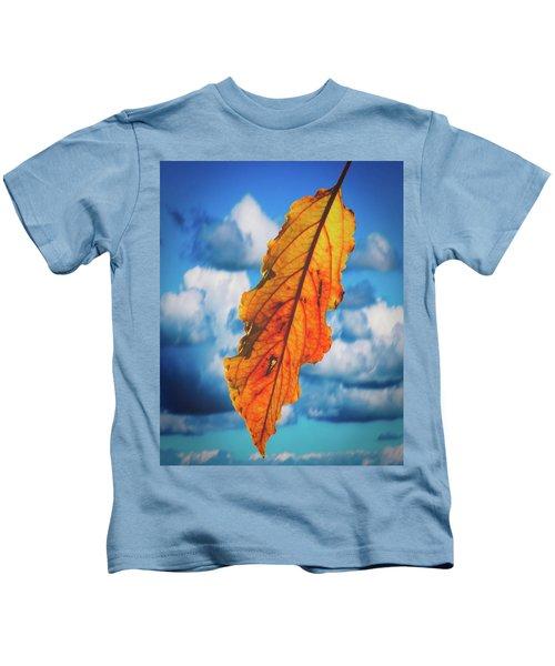 October Leaf B Fine Art Kids T-Shirt