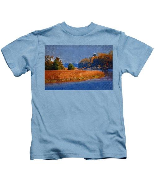 Sitting On The Dock Kids T-Shirt