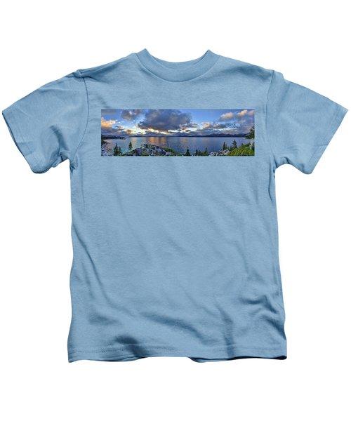 Tahoe Sunset Panorama Kids T-Shirt