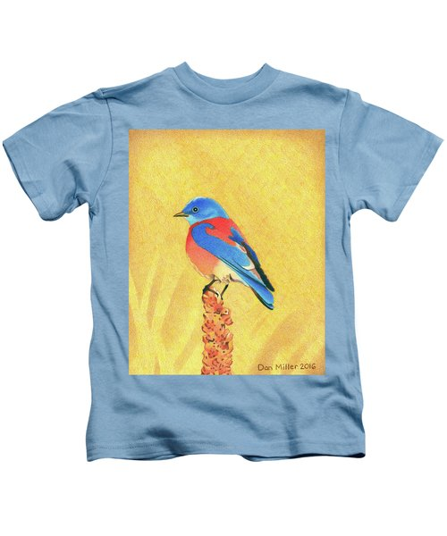 Western Bluebird Kids T-Shirt