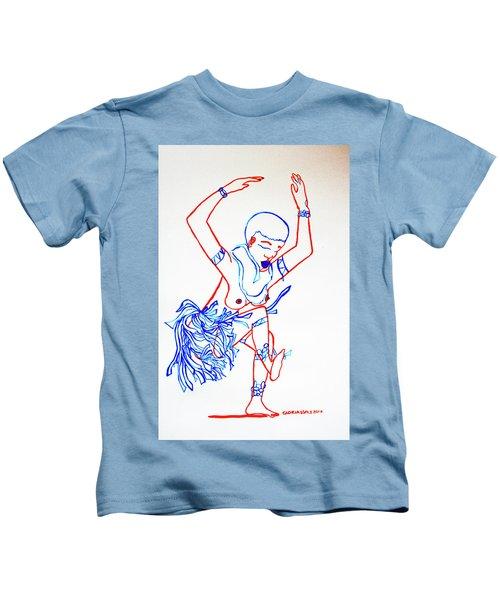 Zulu Traditional Dance South Africa Kids T-Shirt