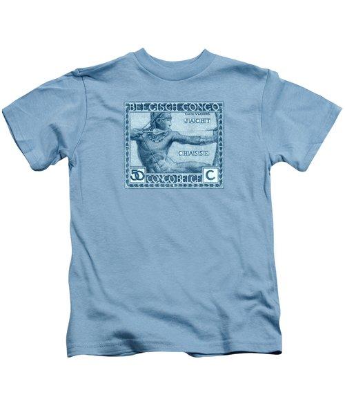1923 Belgian Congo Native Hunting Kids T-Shirt