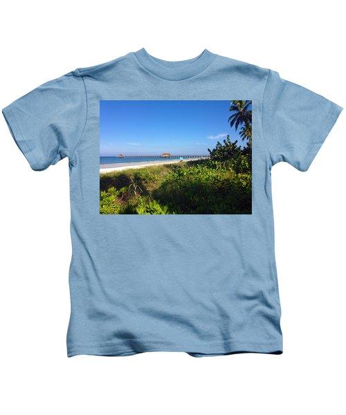 The Historic Naples Pier Kids T-Shirt