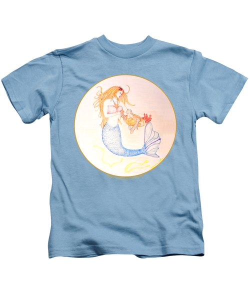 Mermaid Kids T-Shirt by M Gilroy