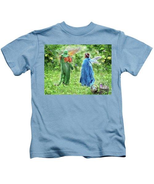 A Dragon Confides In A Fairy Kids T-Shirt