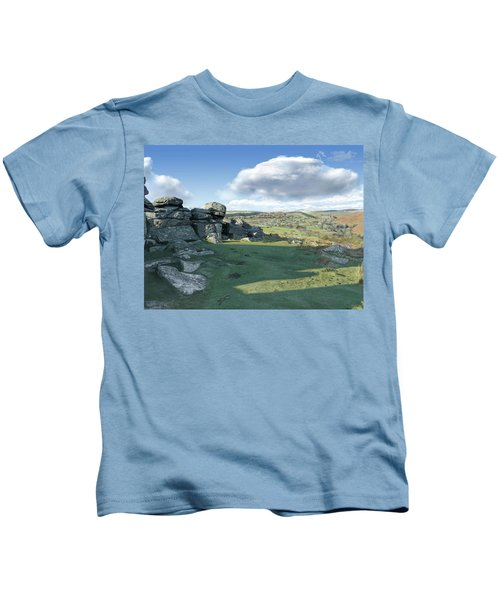 A View From Combestone Tor Kids T-Shirt