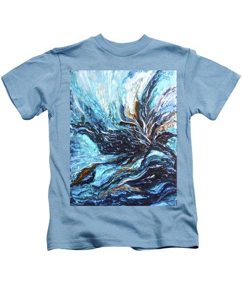Abstract Water Dragon Kids T-Shirt