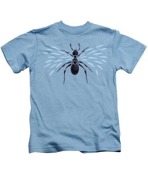 Abstract Winged Ant Kids T-Shirt by Boriana Giormova