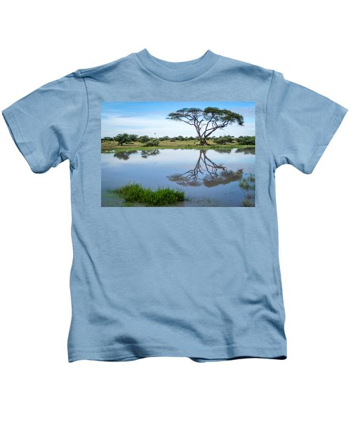 Acacia Tree Reflection Kids T-Shirt
