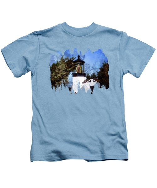 Afternoon At The Cape Meares Lighthouse  Kids T-Shirt