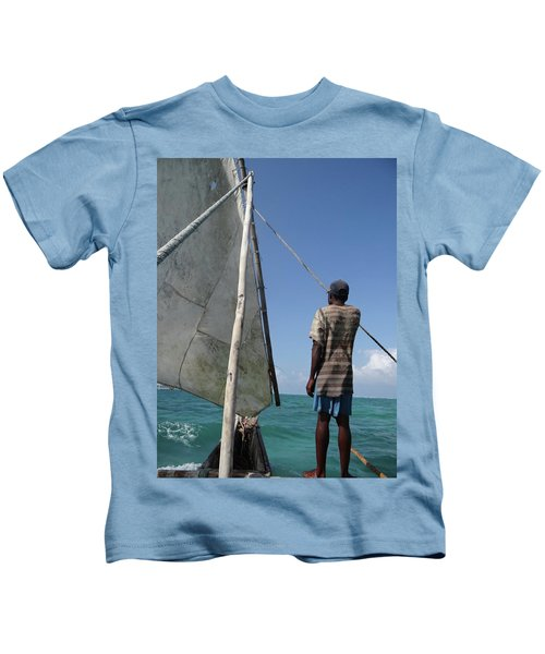Afternoon Sailing In Africa Kids T-Shirt