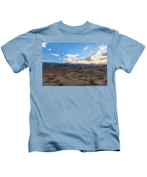 Alabama Hills Sunset  Kids T-Shirt
