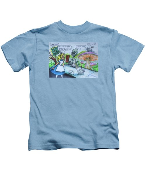 Alien In Wonderland Kids T-Shirt