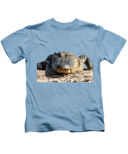 Alligator Approach .png Kids T-Shirt by Al Powell Photography USA