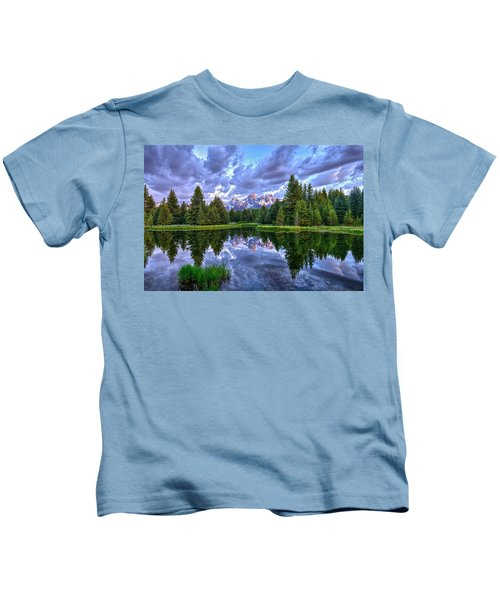 Alpenglow In The Tetons Kids T-Shirt