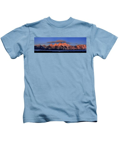 Alpenglow Tetons 2 Kids T-Shirt