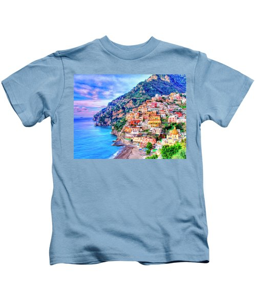Amalfi Coast At Positano Kids T-Shirt