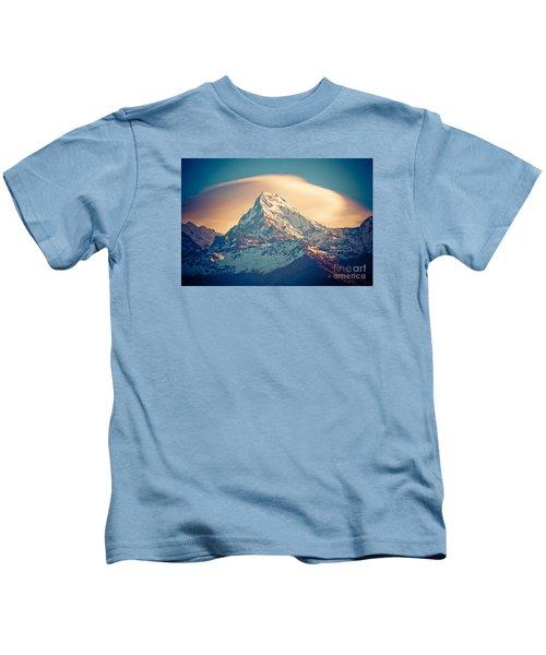 Annapurna Sunrise Himalayas Mountains Kids T-Shirt