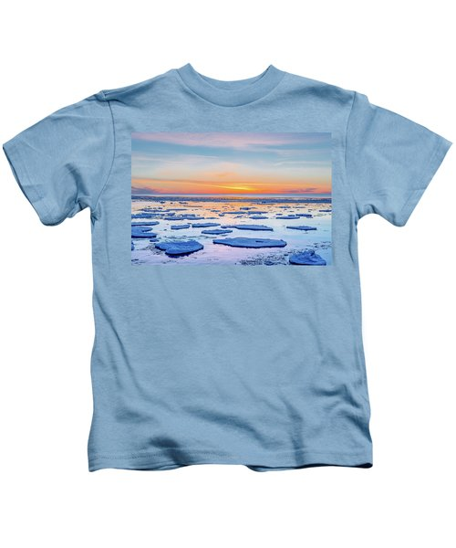 April Sunset Over Lake Superior Kids T-Shirt