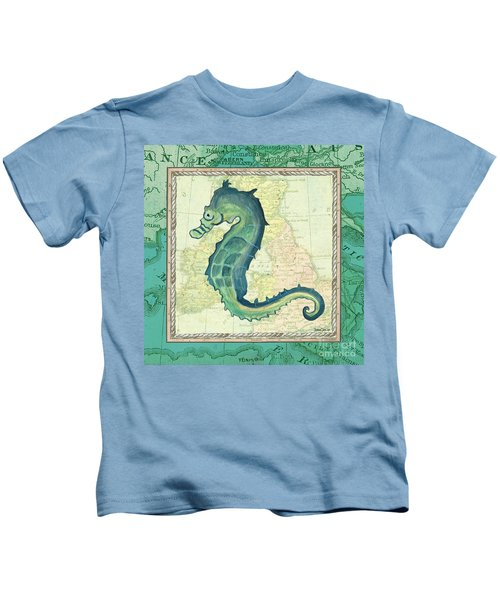 Aqua Maritime Seahorse Kids T-Shirt