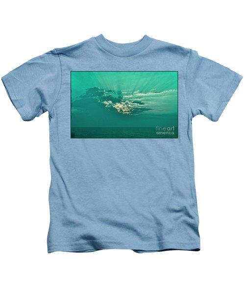 Aqua Sunset Kids T-Shirt