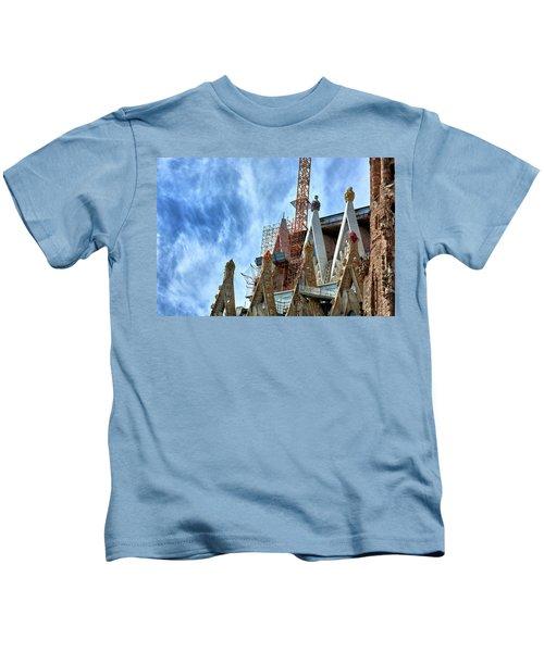 Architectural Details Of The Sagrada Familia Kids T-Shirt