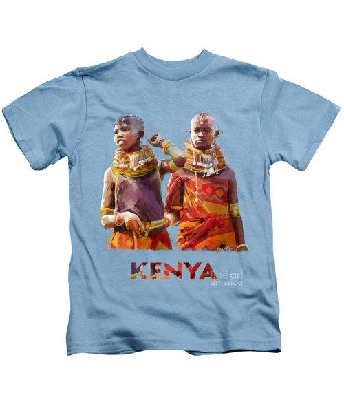 Young Turkana Girls Kids T-Shirt