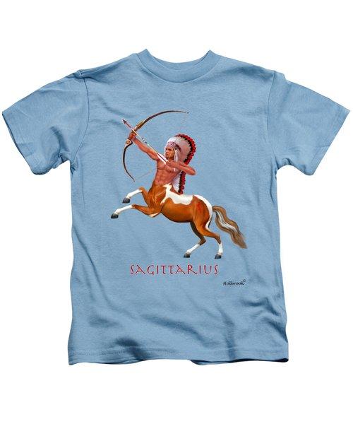Native American Sagittarius Kids T-Shirt