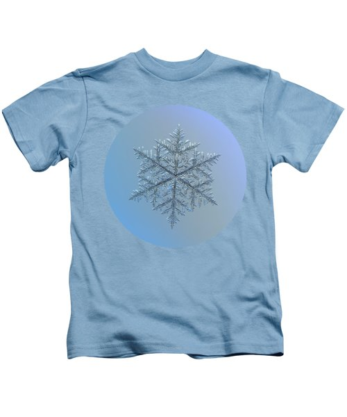 Snowflake Photo - Majestic Crystal Kids T-Shirt