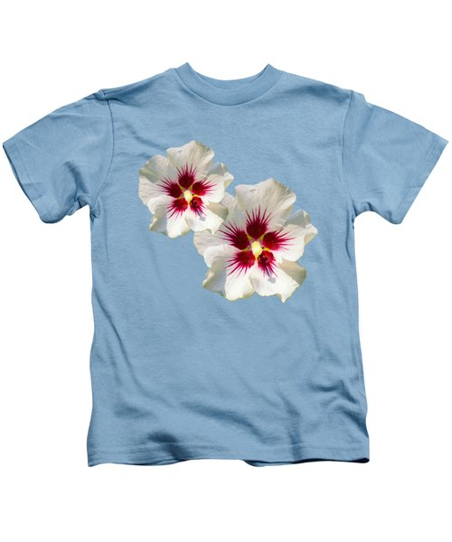 Hibiscus Flower Pattern Kids T-Shirt